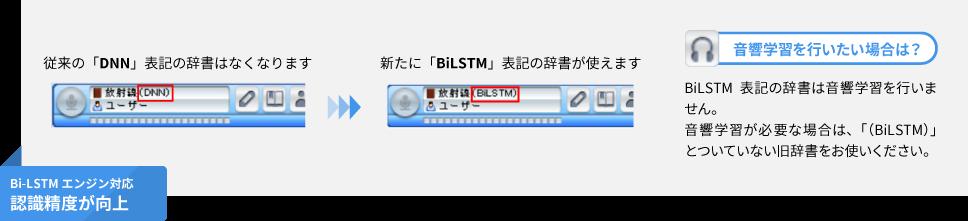 Bi-LSTMエンジンの辞書対応